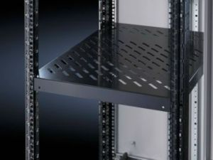 Rittal Component shelf, 1U Adjustable shelf 600 - 900 Black - 100kg